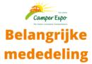 Camper Expo Houten in 2020 gaat niet door.