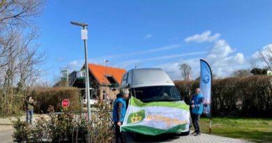 Nieuwe camperplaats in Rijnsburg.