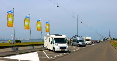 Plaats voor veertig campers in Hoek van Holland.