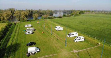 Nieuwe camperplaats in het Noord-Limburgse Heijen.