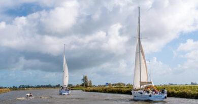 Nieuwe camperplaats aan Jeltesleat Friesland.